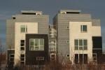 Rækkehuse udført som flerfamilehuse med 5 boliger i hvert punkhuse